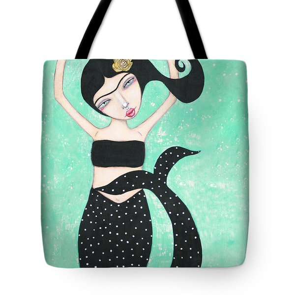 Tote Bag featuring the mixed media Eris by Natalie Briney
