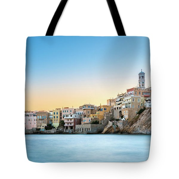 Ermoupoli - Syros / Greece. Tote Bag by Stavros Argyropoulos