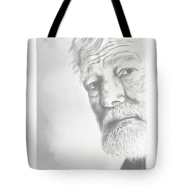 Ernest Hemingway Tote Bag