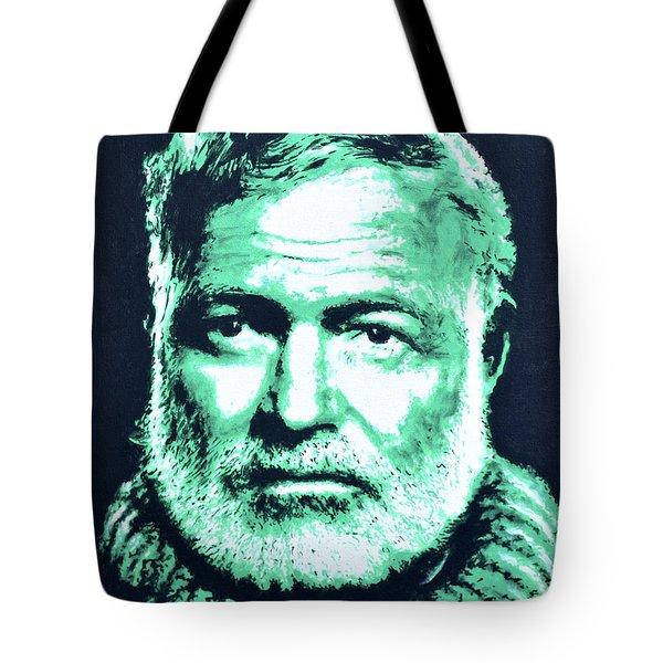 Ernest Hemingway Tote Bag by Victor Minca