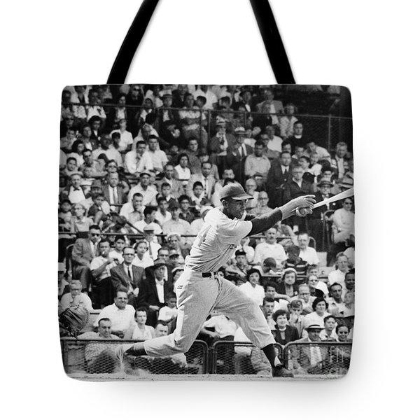 Ernie Banks (1931- ) Tote Bag by Granger