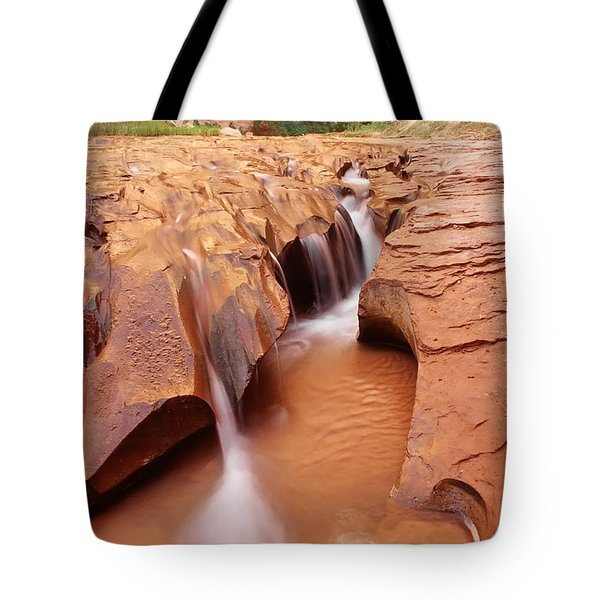 Eroded Streambed, Coyote Gulch Tote Bag by Utah Images