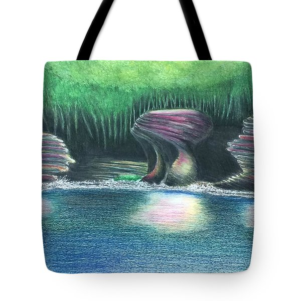 Eroding Away Tote Bag