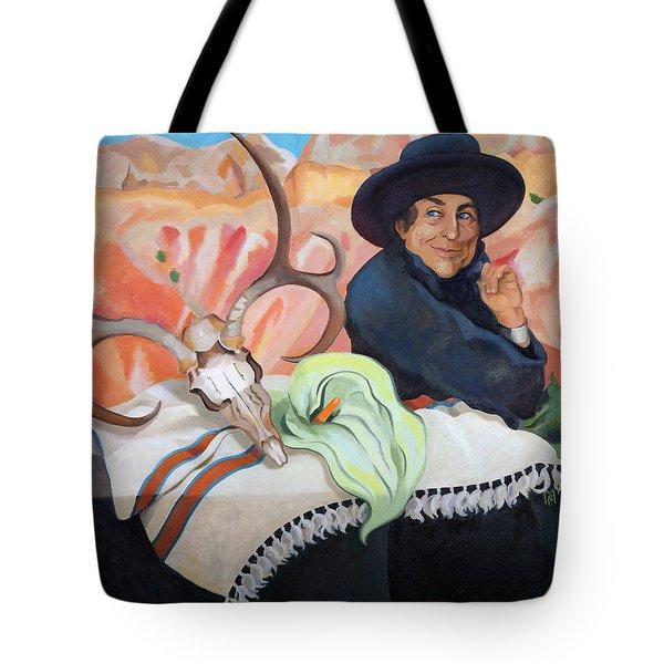 Eros, Thanatos And Georgia O'keeffe Tote Bag