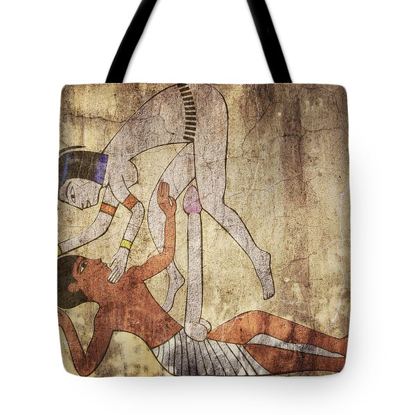 Erotic Drawing Looks Like Fresco Tote Bag by Michal Boubin
