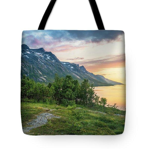 Ersfjord Sunset Tote Bag