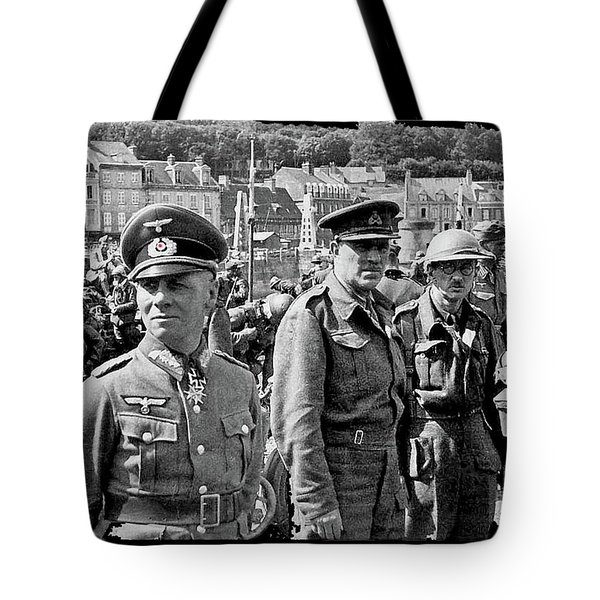 Erwin Rommel And Captured British Soldiers Tobruck Libya 1942 Color Added 2016  Tote Bag