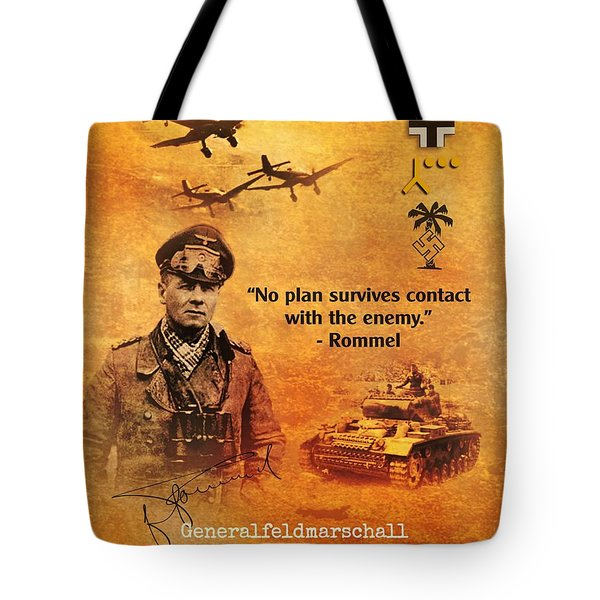 Erwin Rommel Tribute Tote Bag