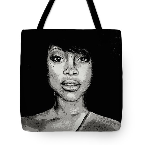 Erykah Baduism - Pencil Drawing From Photograph - Charcoal Pencil Drawing By Ai P. Nilson Tote Bag