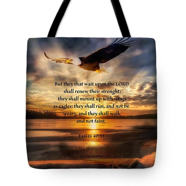 Esaias 40 Verse 31 Tote Bag by Rose-Maries Pictures
