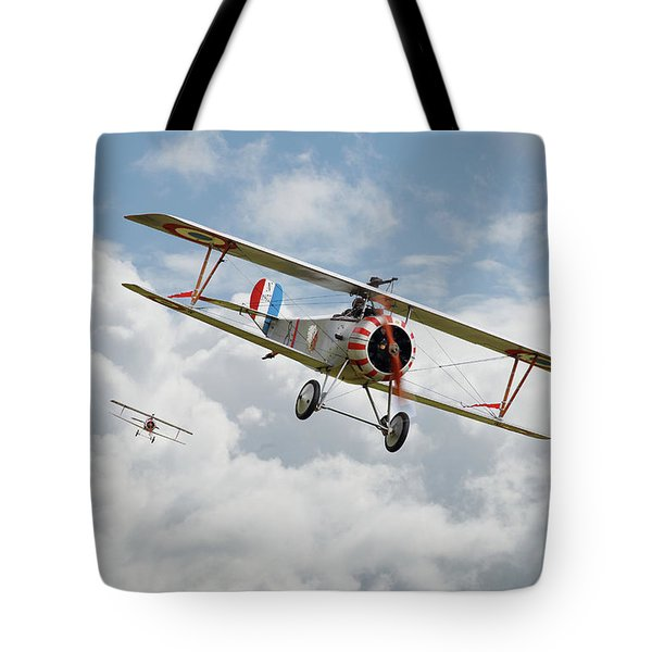 Tote Bag featuring the photograph Escadrille Lafayette - Hunters by Pat Speirs