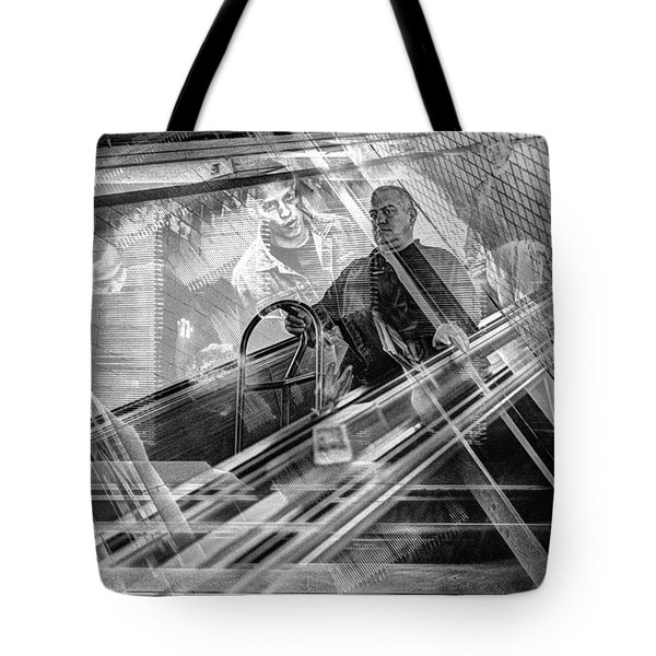 Escalator Collage 1 Tote Bag