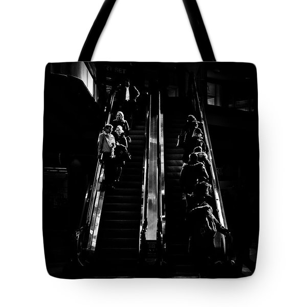 Tote Bag featuring the photograph Escalator No 1 by Brian Carson