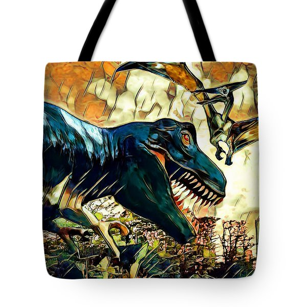 Escape From Jurassic Park Tote Bag by Pennie  McCracken