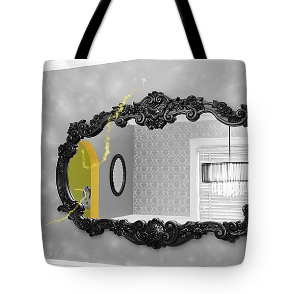 Escape From The Yellow Room Tote Bag