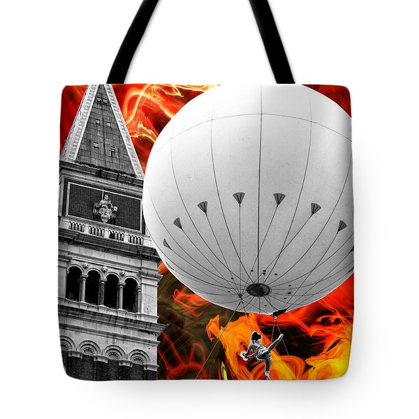 Escape From Venice Tote Bag by John Rizzuto