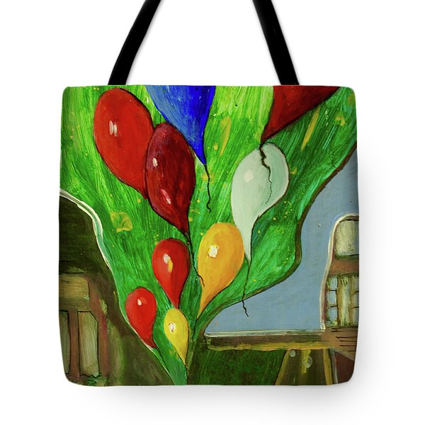Tote Bag featuring the painting Escape by Paul McKey