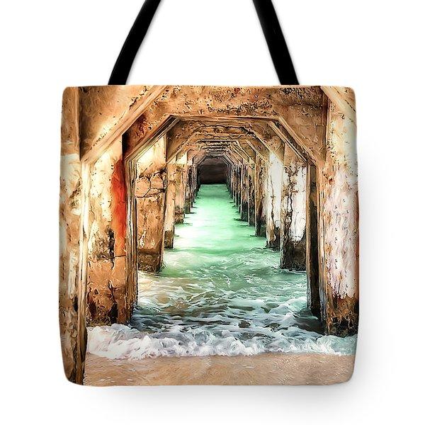 Escape To Atlantis Tote Bag