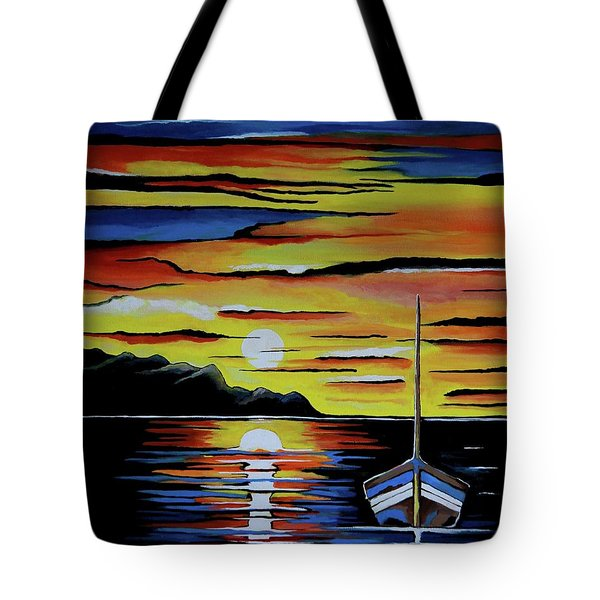 Escape To The Sea Tote Bag by Kathleen Sartoris