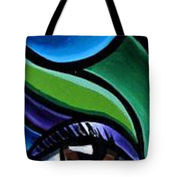 Colorful Abstract Art Painting, Modern Art Brown Eye Art Paintings Tote Bag