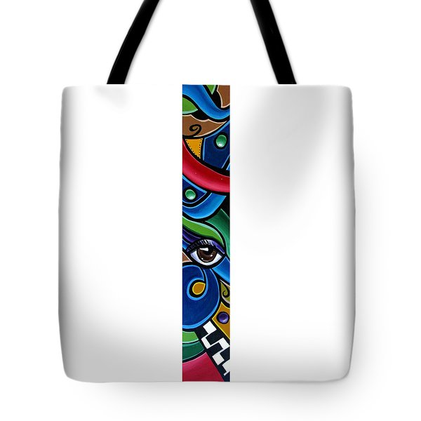 Escape To Venice - Abstract Art Painting, Modern Abstract Eye Art - Ai P. Nison Tote Bag