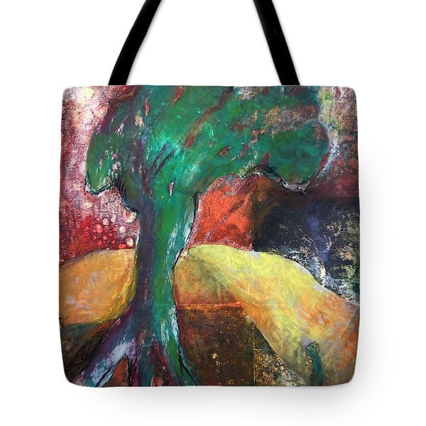 Escaped The Blaze Tote Bag by Elizabeth Fontaine-Barr