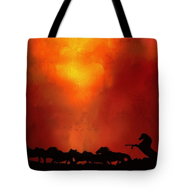 Escaping The Inferno Tote Bag