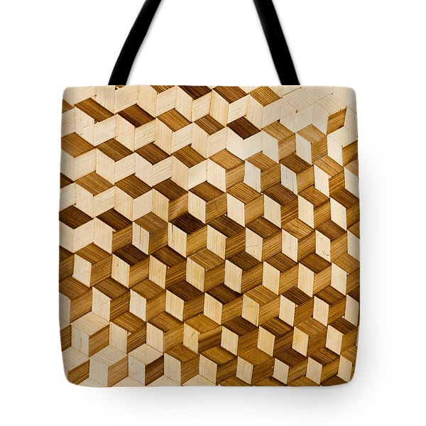 Escher-esque Basketweave Tote Bag