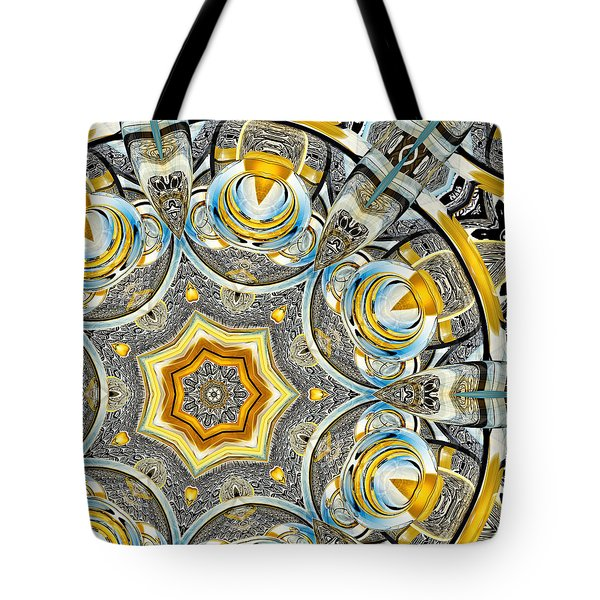 Escher Glass Kaleido Abstract #1 Tote Bag