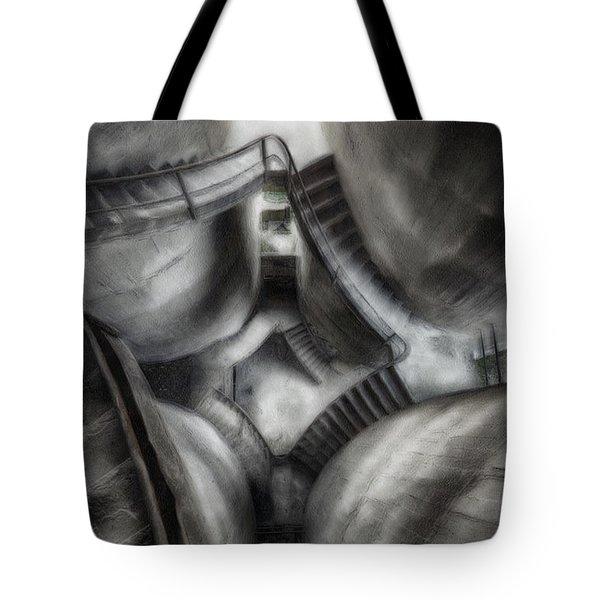 Escher Stairwell Tote Bag