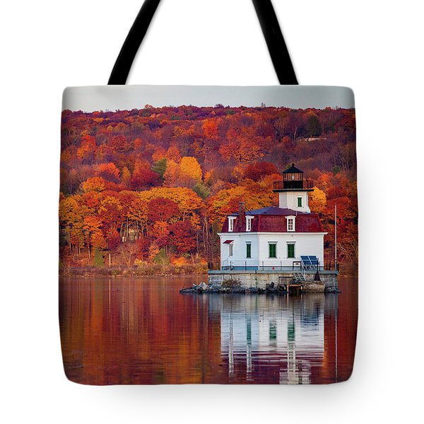 Esopus Lighthouse In Late Fall #1 Tote Bag
