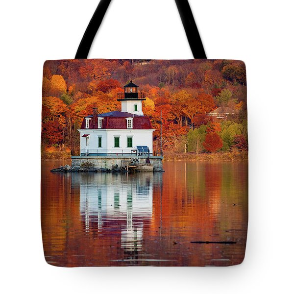 Esopus Lighthouse In Late Fall #2 Tote Bag