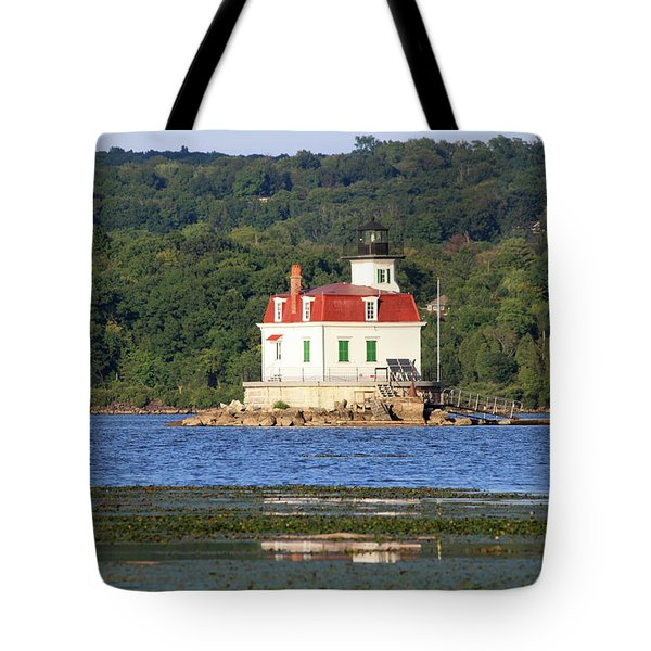 Tote Bag featuring the photograph Esopus Lighthouse In Summer #4 by Jeff Severson