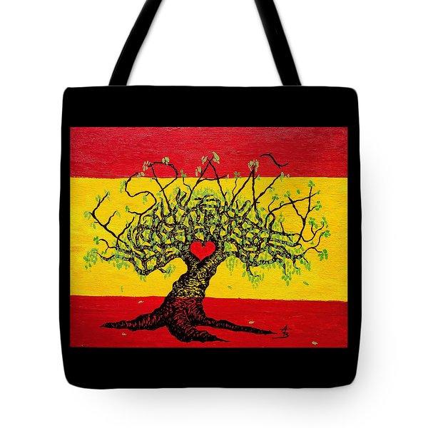 Espana Love Tree Tote Bag