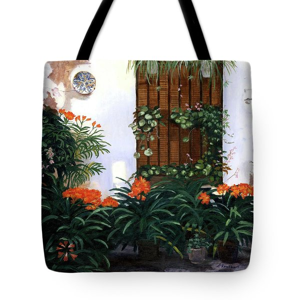 Tote Bag featuring the painting Espana by Lynne Reichhart