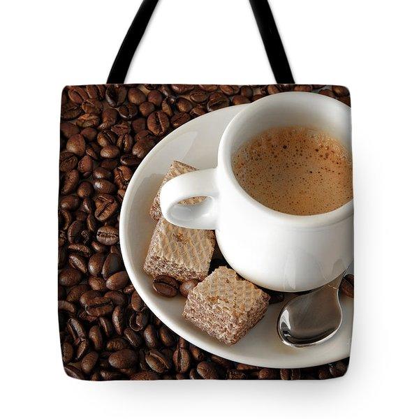 Espresso Coffee Tote Bag by Carlos Caetano