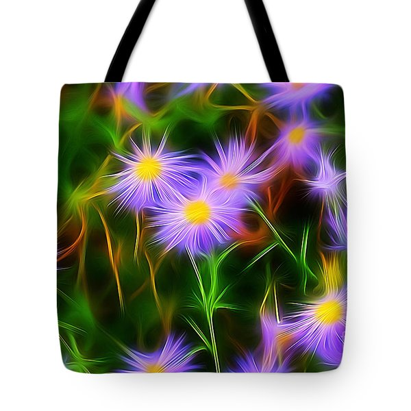 Essence Of Asters Tote Bag