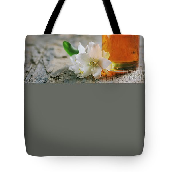 Essential Oil With Jasmine Flower Tote Bag