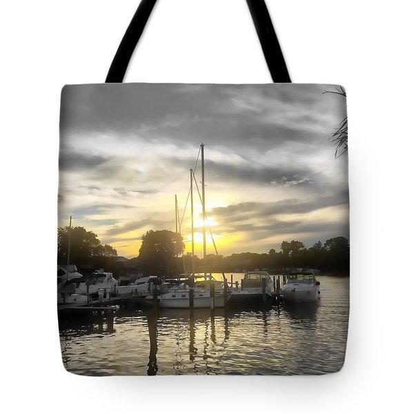 Essex Sunset Tote Bag