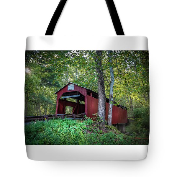 Tote Bag featuring the photograph Esther Furnace Bridge by Marvin Spates