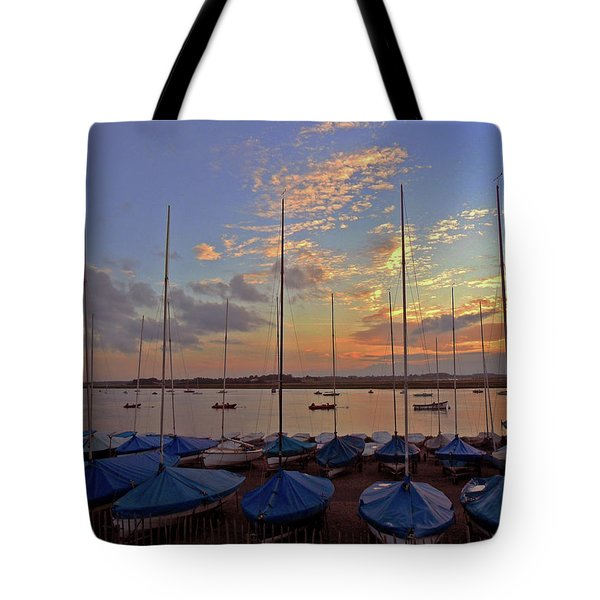 Tote Bag featuring the photograph Estuary Evening by Anne Kotan