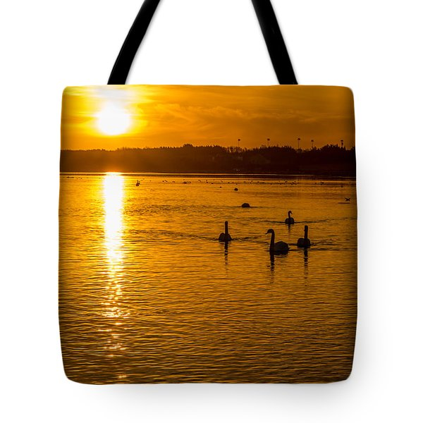 Estuary Sunset Tote Bag by Martina Fagan