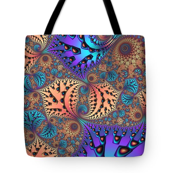 Etched Leaves Tote Bag by John Edwards