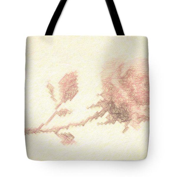 Tote Bag featuring the photograph Etched Red Rose by Linda Phelps