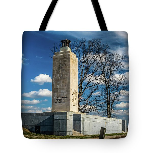 Tote Bag featuring the photograph Eternal Light Peace Memorial by Nick Zelinsky
