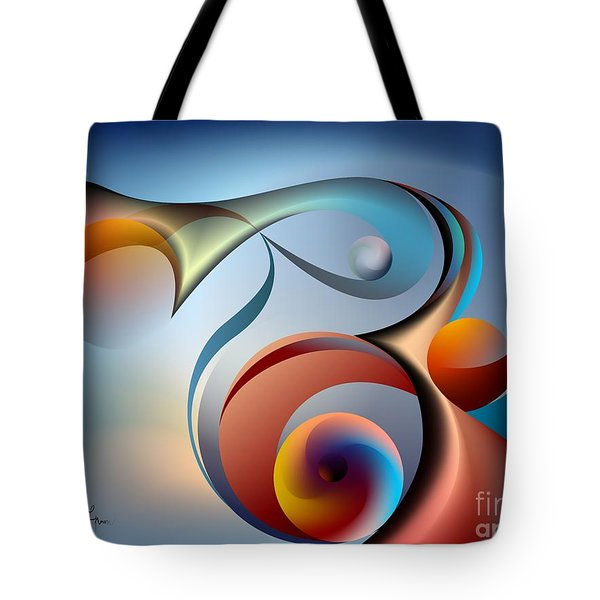 Eternal Movement - Wrapping Tote Bag by Leo Symon