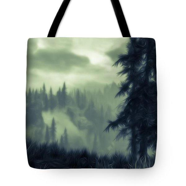Eternal Shadow Falls  Tote Bag by Andrea Mazzocchetti