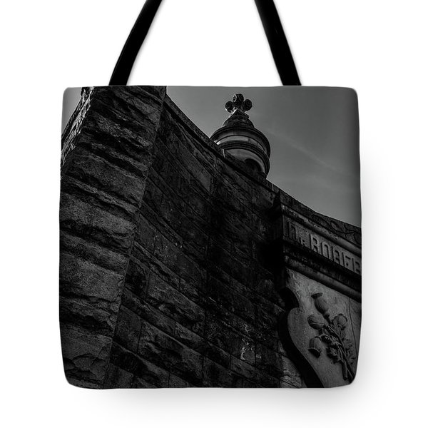 Eternal Stone Structure Bw Tote Bag