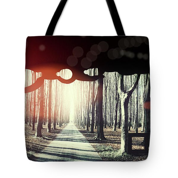 Tote Bag featuring the photograph Eternity, Conceptual Background by Ariadna De Raadt