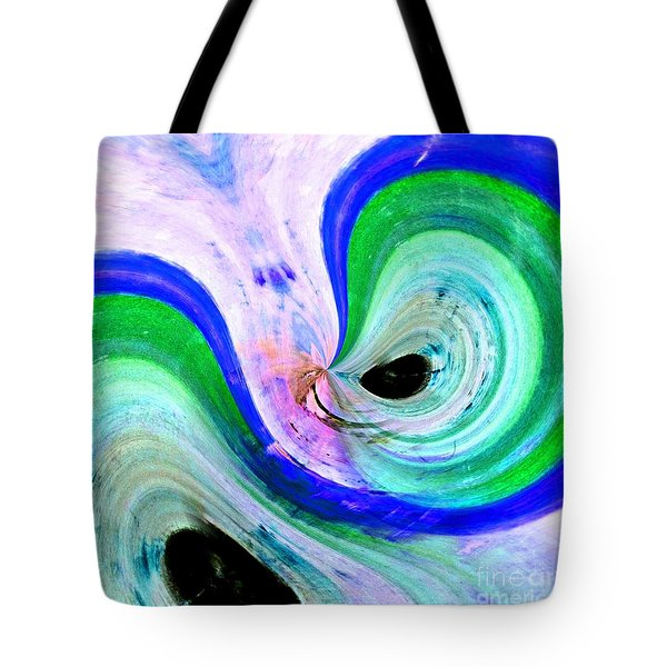 Tote Bag featuring the mixed media Eternity by Jessica Eli